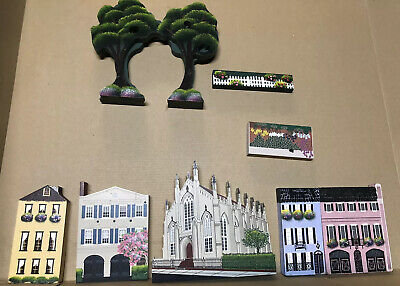 Sheila's Charleston Wooden Houses Lot of 7 1990s French Huguenot Church