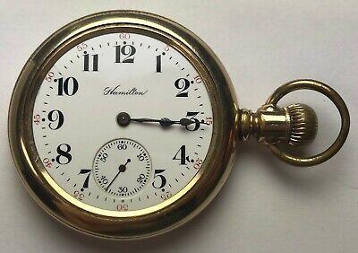Hamilton, Grade 974, 17 Jewels, 16 S, Hunting Case Model Mvt, Gold-Filled Case
