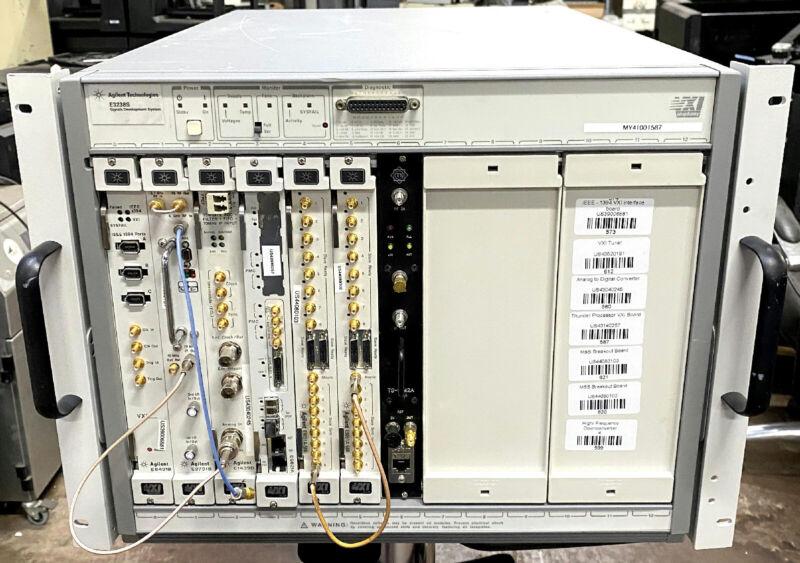 HP/Agilent E3238S / E8403A VXI Mainframe w E9821A / E8491B / E9051A / E1439D