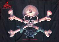 Bandera Poster Pirata Calavera Con Rosa -  - ebay.es