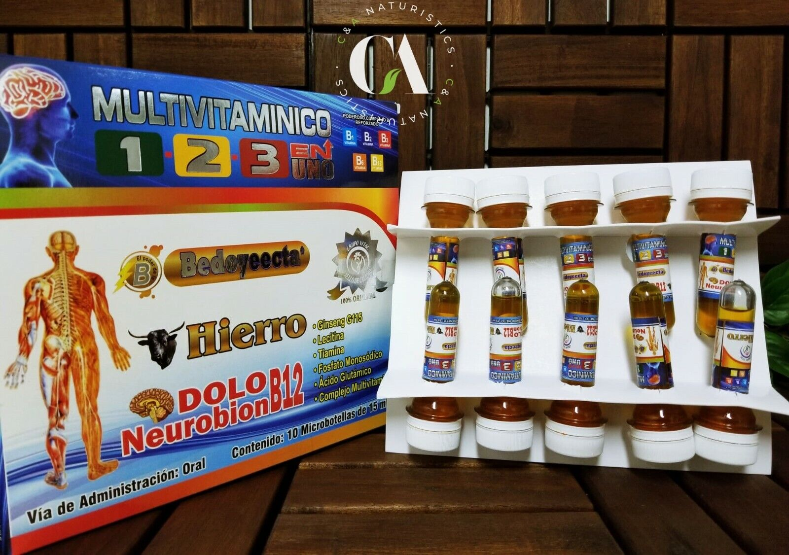 Multivitaminico 1-2-3 Bedoyeecta* Hierro* & DoloNeurobionB12* (10 Microbotellas)