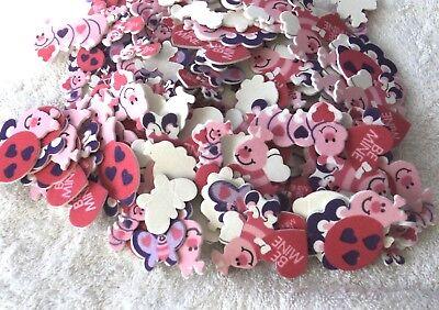VALENTINE HEARTS Foam Shapes Kids Crafts Scrapbooking  Classroom Daycare Valentine Foam Crafts