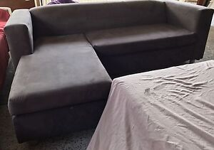 Compact brown suede Lounge chaise Plumpton Blacktown Area Preview