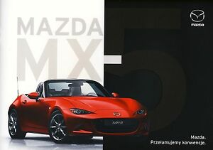Mazda MX 5 10 / 2016 catalogue brochure rare -  Varsovie, Polska - Mazda MX 5 10 / 2016 catalogue brochure rare -  Varsovie, Polska