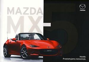 Mazda MX 5 10 / 2016 catalogue brochure rare - <span itemprop='availableAtOrFrom'> Varsovie, Polska</span> - Mazda MX 5 10 / 2016 catalogue brochure rare -  Varsovie, Polska