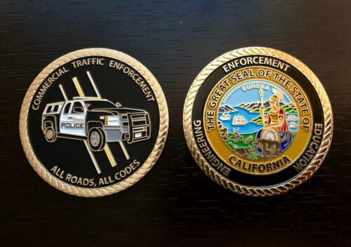 """Commercial Traffic Enforcement Challenge Coin - 2"""" POLICE"""