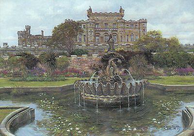 Culzean Castle (Culzean Castle Ayrshire Scotland UK Fountain, Modern United Kingdom Art Postcard)