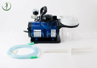 Medical Veterinary Portable High Suction Vacuum Unit Pump Self Contained