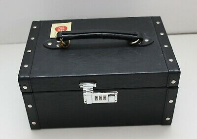 Tuscan Designs Jewelry Box BLACK Storage Box Two Tier Combination Code Lock New  Black Designer Jewelry Box