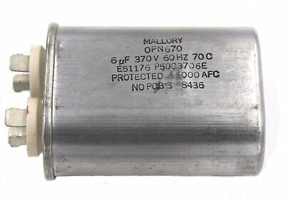 Mallory Power Supply Filter AC Cap - 6uF, 370 V, 60Hz