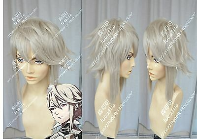 Fire Emblem Kamui male Anime Cosplay Costume Wig +Free Wig CAP + - Anime Male Clothes