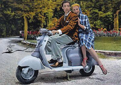 Kunstkarte: Paar auf Motorroller