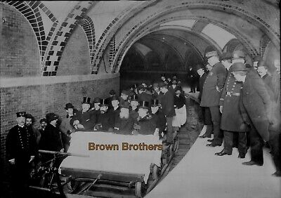Vintage Oct 27, 1904 HISTORIC FIRST SUBWAY RIDE EVER NYC Film Photo Negative BB