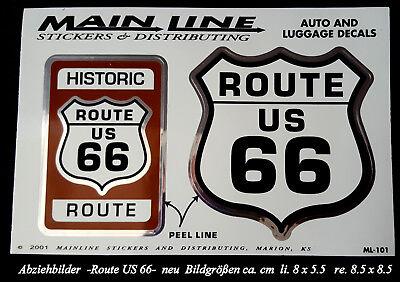 Aufkleber/Abziehbild   -Route 66-