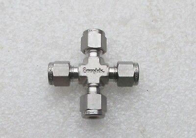 Swagelok 14 Stainless Steel Fitting Cross Ss-400-4 Several Available New