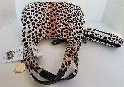 Total Tote Organizer (NWT NINE WEST Get Totally Organized Leopard Tote Purse Handbag + BONUS)