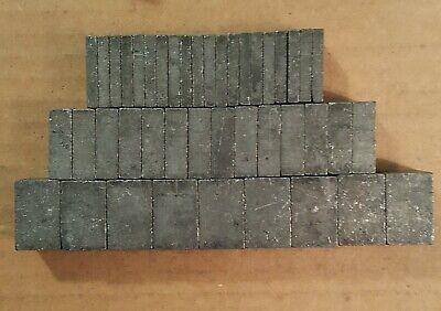 Vintage Mixed Size Letterpress Blanks 43 Total Count Lot