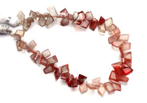"""Natural Gem Andesine Labradorite Faceted Slice Shape Beads 8.5"""" Strand 63Cts."""