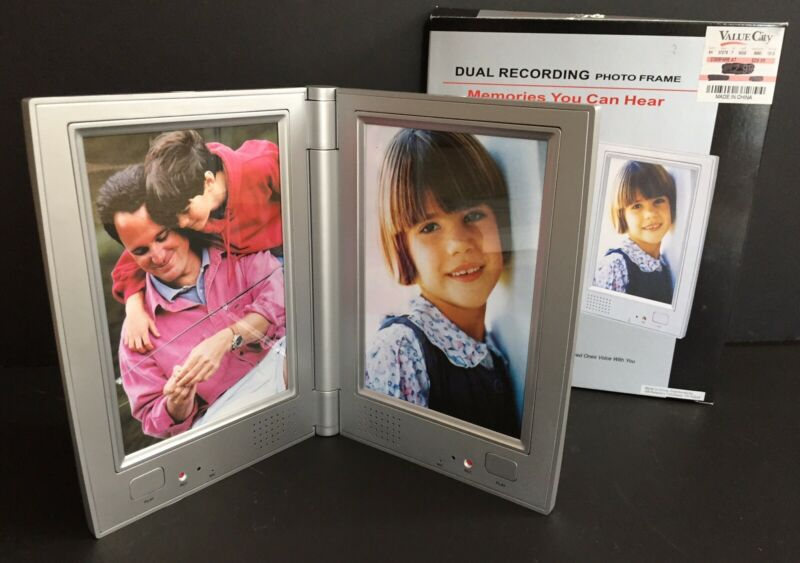 New Voice Zone Dual Voice Recording Photo Table Picture Frame - In Open Box