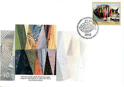 Estonia 2016 FDC Estonian Art Museum Treasury 1v Set Cover Fish Paintings Stamps