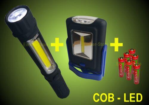 COB LED lampada da lavoro+TORCIA+BATTERIA TORCIA TASCABILE LAMPADA OFFICINA