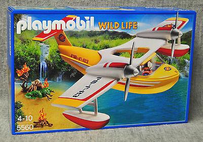 Playmobil 5560 Löschflugzeug Wasser-Flugzeug Flieger Wild Life Dschungel Neu