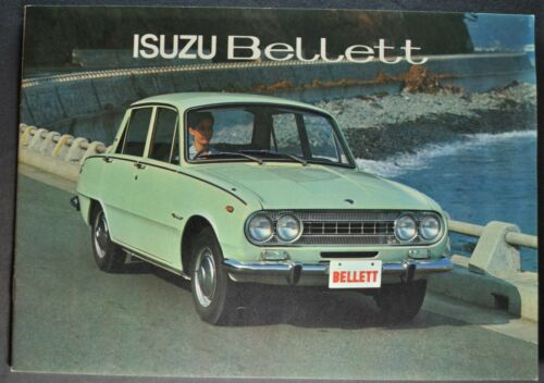 1967-1968 Isuzu Bellett Catalog Sales Brochure 1500 Sedan Excellent Original