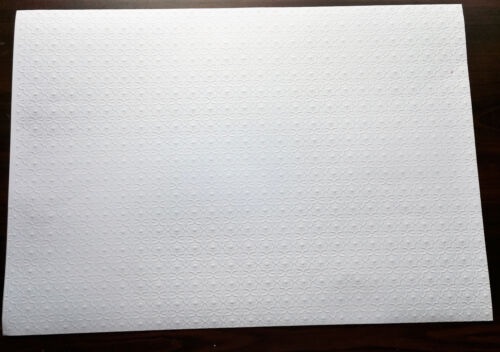 """Dollhouse Miniature White Embossed Textured Ceiling Paper 1:12 Scale 17 """"x 12"""""""