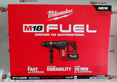 New Milwaukee 2717-22hd M18 18v Fuel 1-916 Sds Max Hammer Drill Kit 9.0ah