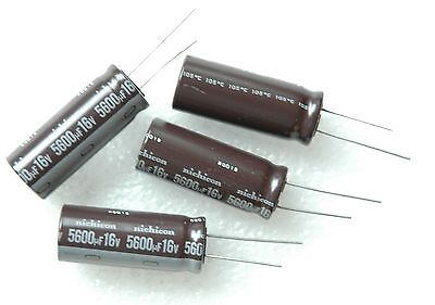 4 Pcs 16v 5600uf 5600mfd Radial Electrolytic Capacitor 16x40 105c Made In Japan