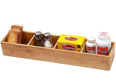 Ybm Home Kitchen 4-compartment Bamboo Drawer Organizer Box 329