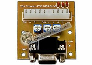 New CGA to VGA or VGA to CGA Adapter CGA/VGA VGA/CGA Arcade Monitor Converter