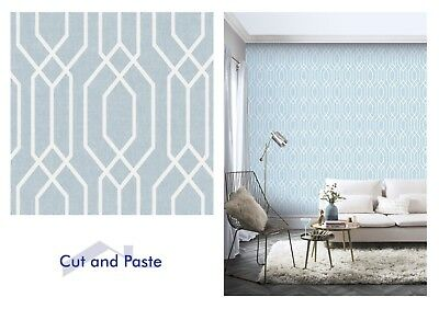 Arthouse New York Geo Teal Blue White Geometric Wallpaper 908209