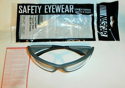 NASCAR SAFETY EYEWEAR Style 460 by Encon Safety Products Color Gray New