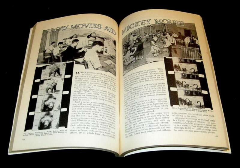 WALT DISNEY 1932 ANIMATORS & SOUND EFFECTS PICTORIAL SLOW MOVIES & MICKEY MOUSE