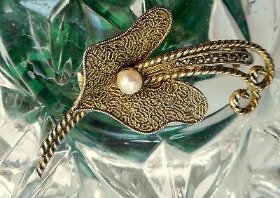 Original Theodor Fahrner Art Deco Brosche  925 Silber Silberqualilät-ECHTE PERLE