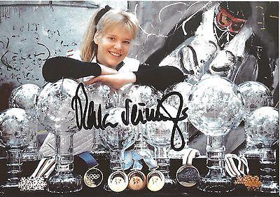 Autogramm Katja Seizinger 3-fache Olympiasiegerin, Ski alpine, original signiert