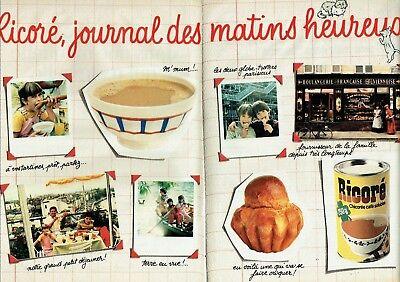 Publicité Advertising 019 1982 café soluble Ricoré petit-déjeuner (2 pages)