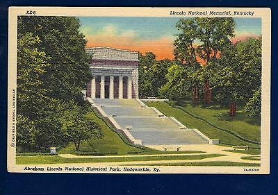 Lincoln National Memorial Postcard  Hodgenville Kentucky  Never Mailed