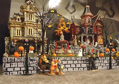 Halloween Display Platform Base for Dept 56 Snow Village Lemax Spooky Town 3pcs - Snow Village Halloween Displays