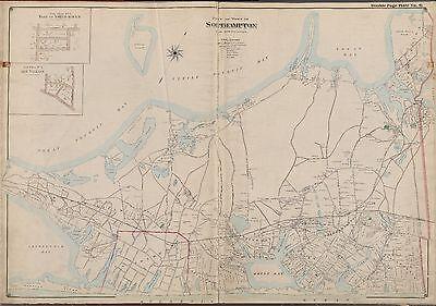 1902 SOUTHAMPTON NORTH HAVEN SUFFOLK LONG ISLAND NY ART VILLAGE COPY ATLAS MAP