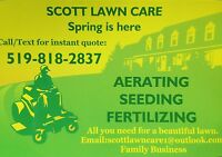 Core Lawn Aerating-$40 most lawns. 519-818-2837 for quote