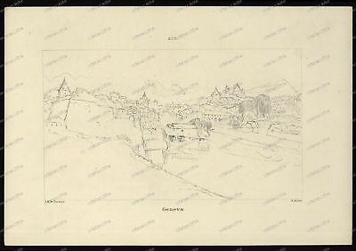 Druck-Stahlstich-Engraving-J.M.W. Turner-Geneva-G. Allen-36