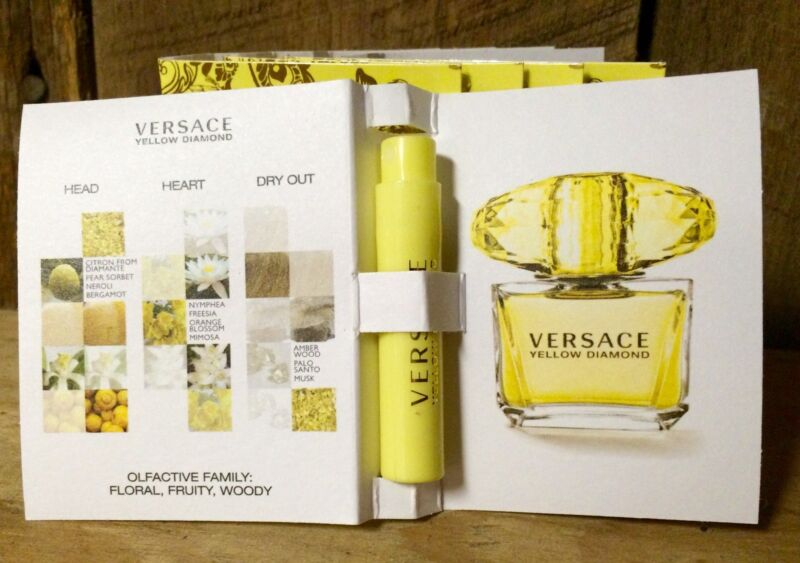 Versace Yellow Diamond EDT .03 OZ Sample Spray- Lot Of 5!