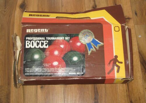 Vtg Regent Professional Tournament Made In Italy Bocce Set 65115 New Open Box