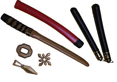ROT Krieger Schwert Nunchaku Kung Fu Wurfstern Japan Waffe (Krieger-schwert)