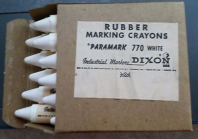 VINTAGE Dixon Rubber Marking Crayons Box of 12 New Old Stock (Rubber Marking Crayons)