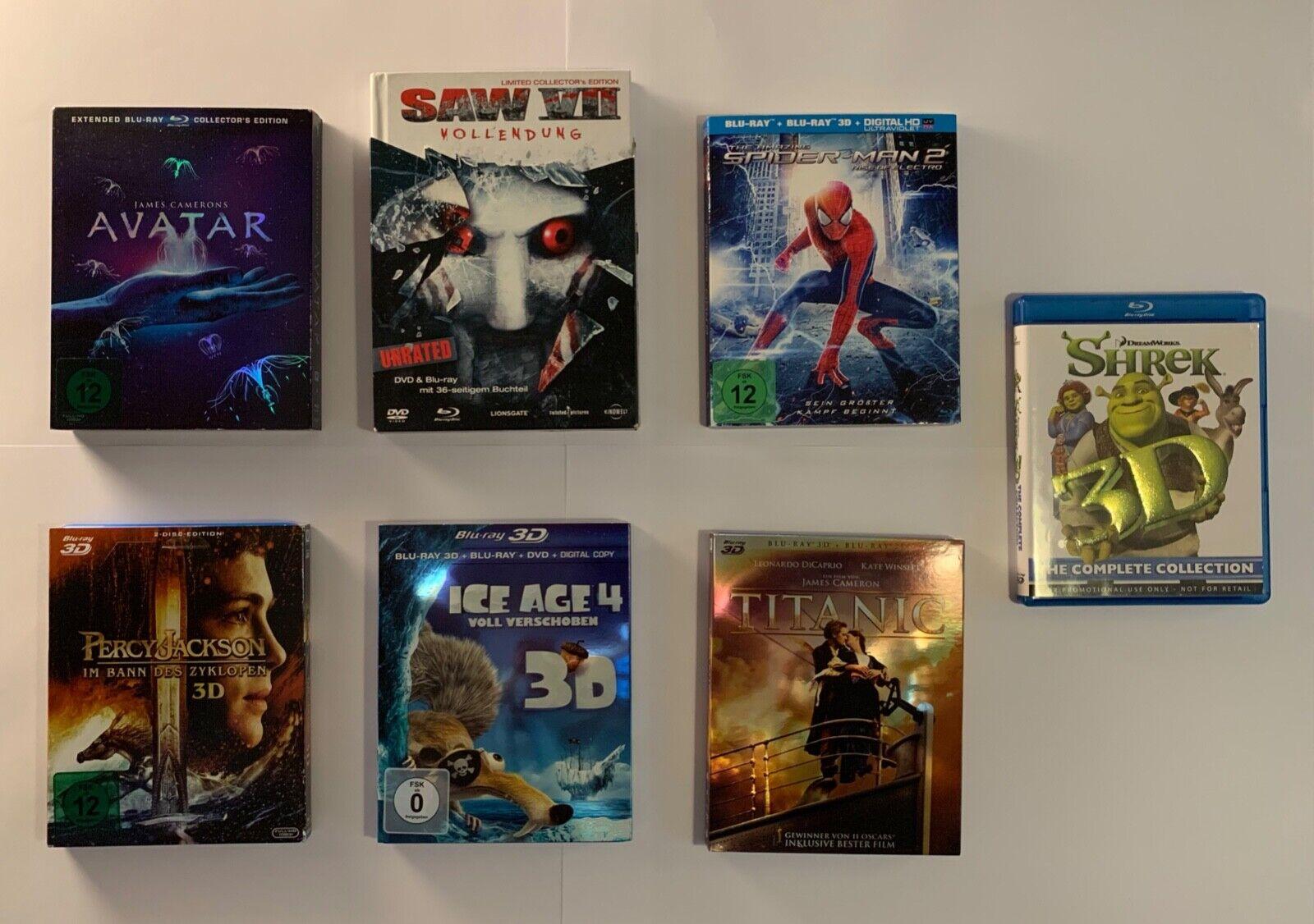 Blu-ray Kollektion 44 Filme mit 3D Filmen+Limited E. (Liste s. Beschreibung)