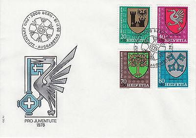 Schweiz  FDC Ersttagsbrief 1978 Gemeindewappen Mi. 1142-45