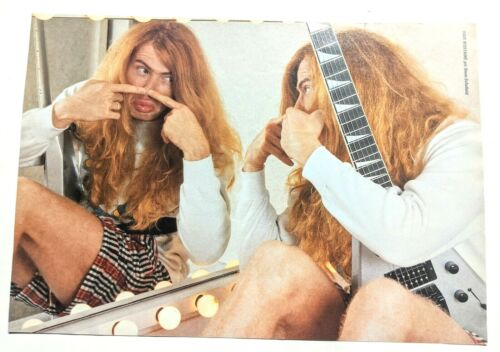 MEGADETH / DAVE MUSTAINE / MAGAZINE FULL PAGE PINUP POSTER CLIPPING + DVD (26)